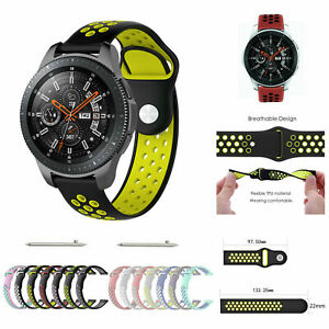 For Samsung Galaxy watch 46mm Silicone Fitness Replacement Wrist Strap Band 22mm
