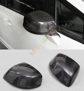 Carbon Fiber Rear View Mirror Decorative Cover 2X For Honda Civic 9th 2012 2013