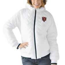 Chicago Bears Womens Drop Back Hooded Full Zip Jacket White by G-III