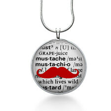 Mustache Necklace, Hipster Jewelry mustache pendant,  mustache jewelry, geek