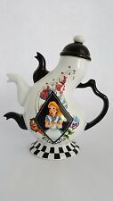 Alice in Wonderland Mad Hatter's Tea Party Ceramic Teapot from Disney. 3 Spouts!