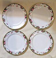 Vtg Haviland Limoges Set of 4 Porcelain Salad/Dessert Plates, France - Esther