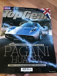 TOP GEAR UK CAR magazine FEB 2011 HUAYRA RS3 GEMBALLA F40 959 A7 CLS SLK Q7 X5