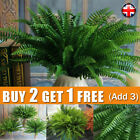 Large Artificial Bouquet Fern Fake Plant Bush Leaf Leaves Foliage Home Decor UK