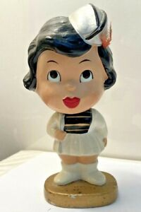 "1960's Pittsburgh Steelers ""My Hero"" Kissing Girl Bobblehead Nodder Original!"