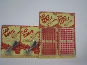Schylling Classic Retro Metal Cap Bombs & Refills Gift Set Bundle - 4 Pack (2 Ca