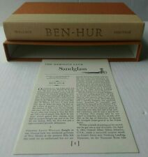 Ben-Hur by Lew Wallace, Heritage Press with Sandglass insert & Slipcase - 1960