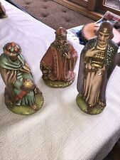 Vintage Holland Mold ? Wise Men Set of 3 King Nativity Figurines Ceramic