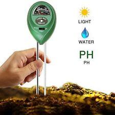 3 in1 PH Tester Soil Water Moisture Light Test Meter for Garden Plant Flower Kit