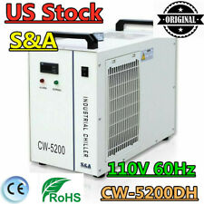 US 110V S&A CW-5200DH Water Chiller for 130-150W CO2 Glass Laser Tube