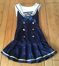 Leg Avenue Sailor Fancy Dress Costume Ship Captain Uniform Women's Size XS (UK4)