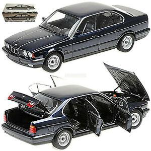 BMW 535i E34 Limousine 1988-91 Blue Metallic 1:18 Minichamps 100024004