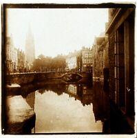 FRANCE BELGIQUE PAYS-BAS à Identifier, Photo Stereo Vintage Plaque Verre VR5L8