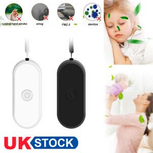 UK Necklace Portable Air Purifier Personal Anion Wearable Mini Negative Ionizer