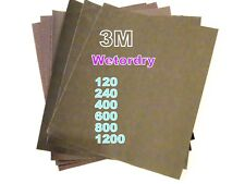 Jewellers 3M  Wet -Or-Dry  Abrasive Papers 6 Grits 120 -1200-Art Silver Clay-PMC