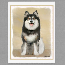 6 Finnish Lapphund Blank Art Note Greeting Cards