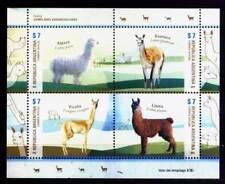 ARGENTINA 2015, FAUNA CAMELIDS MINISHEET YV 3085-8