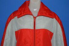 vintage 70s Beconta Red Grey Ski Skiing Women'S Nylon Warm Winter Jacket Sz 14