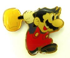 NINTENDO MARIO HAMMER BROS PIN BADGE! SNES WII SUPER GAMECUBE NES PROMO GAME!