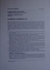 2005 Champions League Final AC Milan v Liverpool (UEFA Press Information)