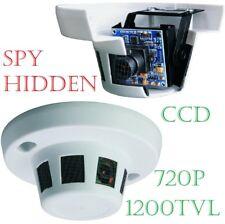 1200TVL CCD HIDDEN CCTV SPY SECURITY CAMERA SURVEILLANCE SMOKE Detector ALARM
