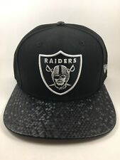 Custom Lid - Unique New Era Oakland Raiders Snapback 9Fifty - Free Shipping OSFA