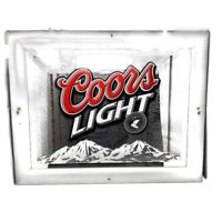 Coors Light Beer Frosted Rocky Mountains Mirror Beer Sign Mancave Gameroom 29x23