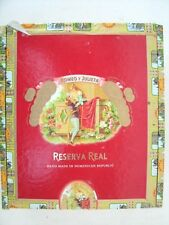 Reserva Real Romeo Y Julieta Empty Wooden Cigar Box
