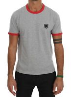 NEW $180 KENZO T-shirt Beachwear Gray Red Cotton Short Sleeve Mens Top s. M