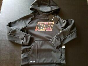 Nike Boys Black Hoodie Sweatshirt Size 7 New