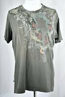 MARC ECKO Mens Cut & Sew Graphic Short Sleeve Gray T-Shirt Size Medium