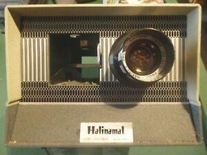 """Vintage rango Hylite Moth 2/"""" X 2/"""" Proyector de diapositivas con caja y revistas de carga"""