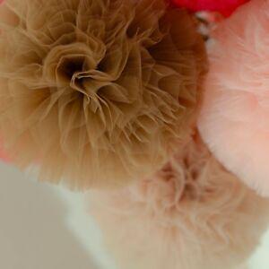 Mocha tulle pom pom- tutu -wedding party decorations -nursery decor-brown