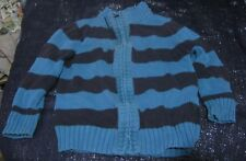 Great Two tone blue striped cardigan by George 1½ - 2 years zipper fronted