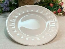 """Wedgwood COLOSSEUM 8-1/4"""", Set of 2, White Salad Plates,England, Ex Used Cond!"""
