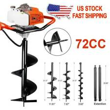 6272cc Post Hole Digger Gas Powered Earth Auger Borer Fence Ground Drill Wbits