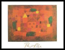 Paul Klee Landschaft bei Sonnenuntergang Poster Bild Kunstdruck & Rahmen 80x60cm