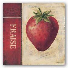 Strawberries Kimberly Poloson Art Print 12x12