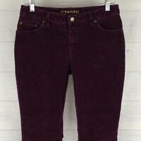 St John's Bay Womens Size 4 Stretch Solid Purple Mid Rise Bootcut Corduroy Pants