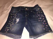 Justice Premium Bling Girls Denim Shorts Size 10