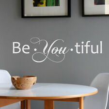 Inspiration Wall Sticker Be You Tiful Beautiful Quote Vinyl Girl Room Home Decor