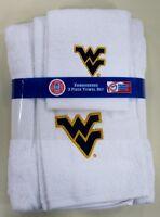 West Virginia University 3pc College Bath Towel Set by Northwest Co.