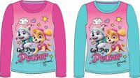 Paw Patrol Girls Pink & Blue Long Sleeve T-shirt Skye & Everest 3 - 8 years