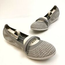 Cole Haan Women's Leather Mary Jane Ballet Flats Sz 8B Wedge Perforated Comfort