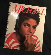 Vintage Michael Jackson Book Spiral 1984 King of Pop Photos PRIORITY MAIL