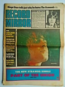 RECORD MIRROR January 6th 1973 Bolan Ringo Bowie ELO Gentle Giant Gypsy Fumble