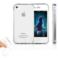 Soft Silicon Crystal Clear Gel Flexible Back Skin Case Cover For iPhone 4 4G 4S