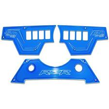 Billet 8 Hole 3 Piece Dash Switch Panel Plates Polaris RZR XP Turbo Voodoo Blue