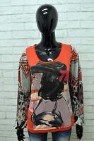 Maglia CUSTO BARCELONA Donna Taglia Size 2 (XS) M Maglietta Shirt Woman Cotone