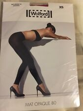WOLFORD MAT OPAQUE 80 LEGGINGS Color Extreme Berry Size Extra Small 18809 - 11